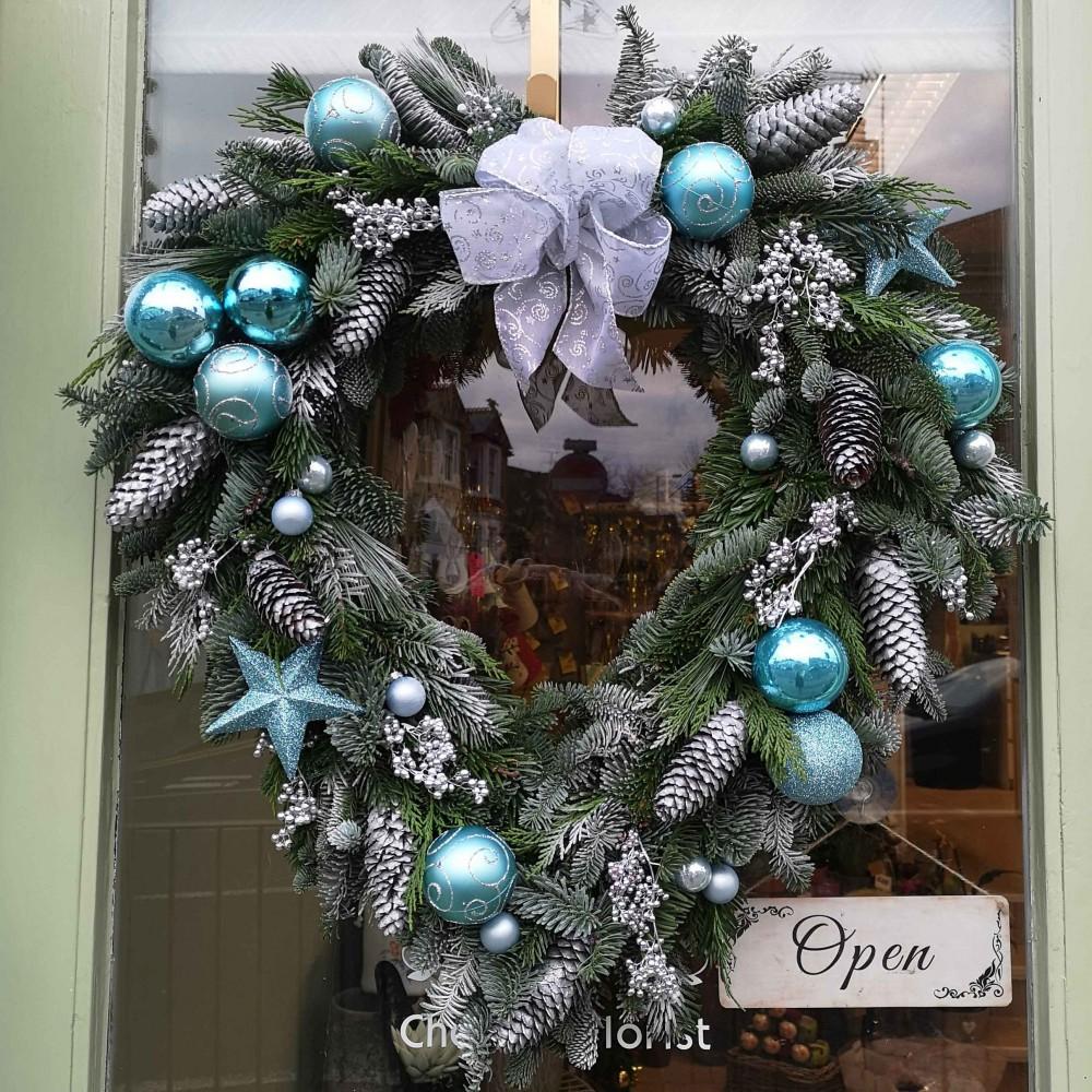 Frosty Heart Wreath