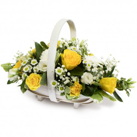 Yellow & White Basket