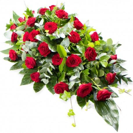 Roses Coffin Spray