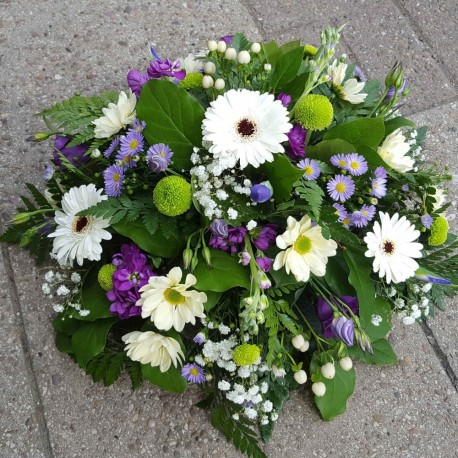 White, Purple and Green Posy