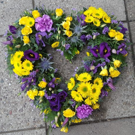 Yellow & Purple Heart