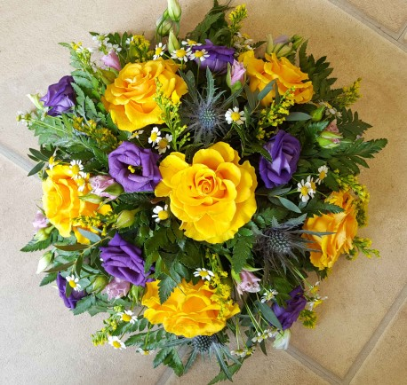 Purple and Yellow Posy