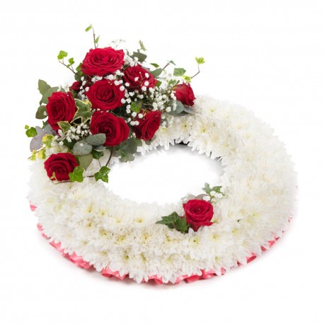 Massed Wreath with Red Spray