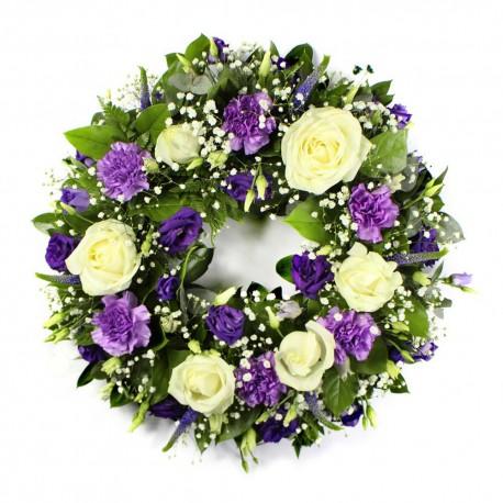 Purple & White Wreath