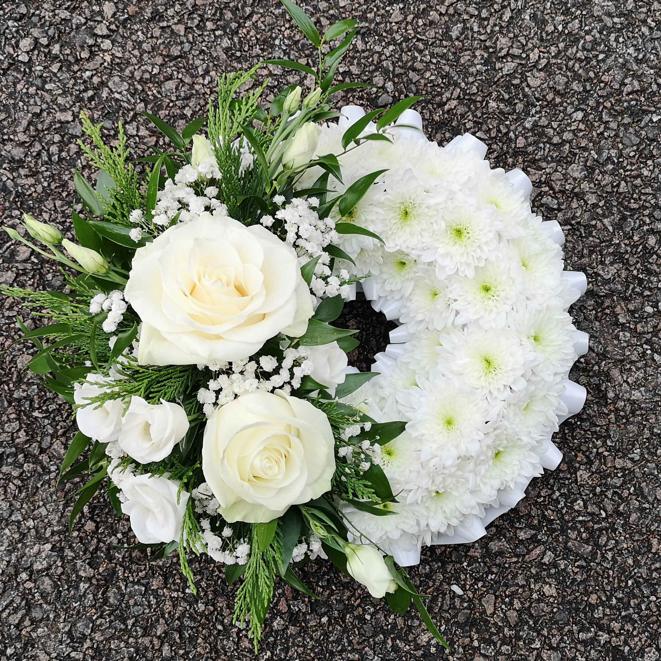 White Massed Wreath