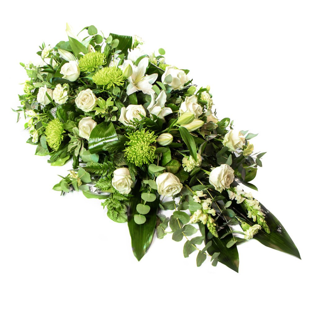 White & Green Coffin Spray