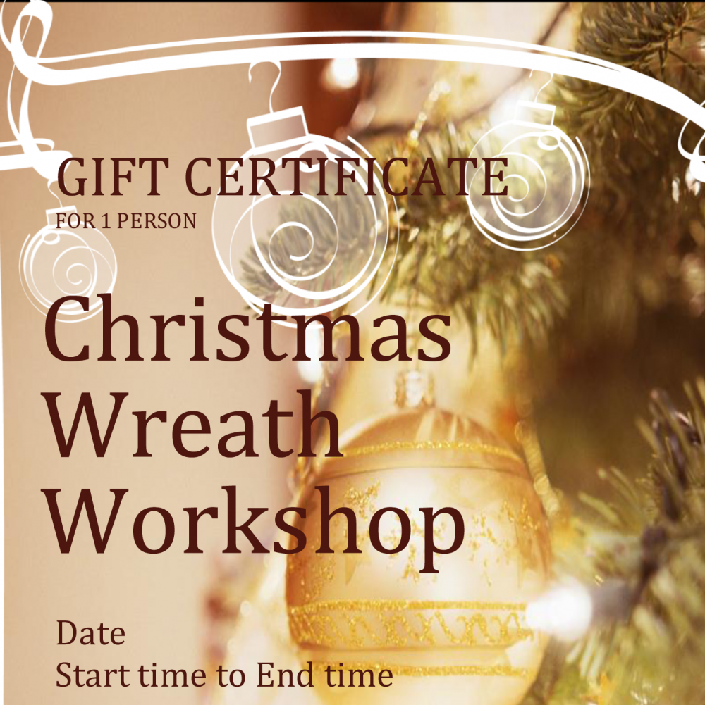 Workshop Gift Voucher