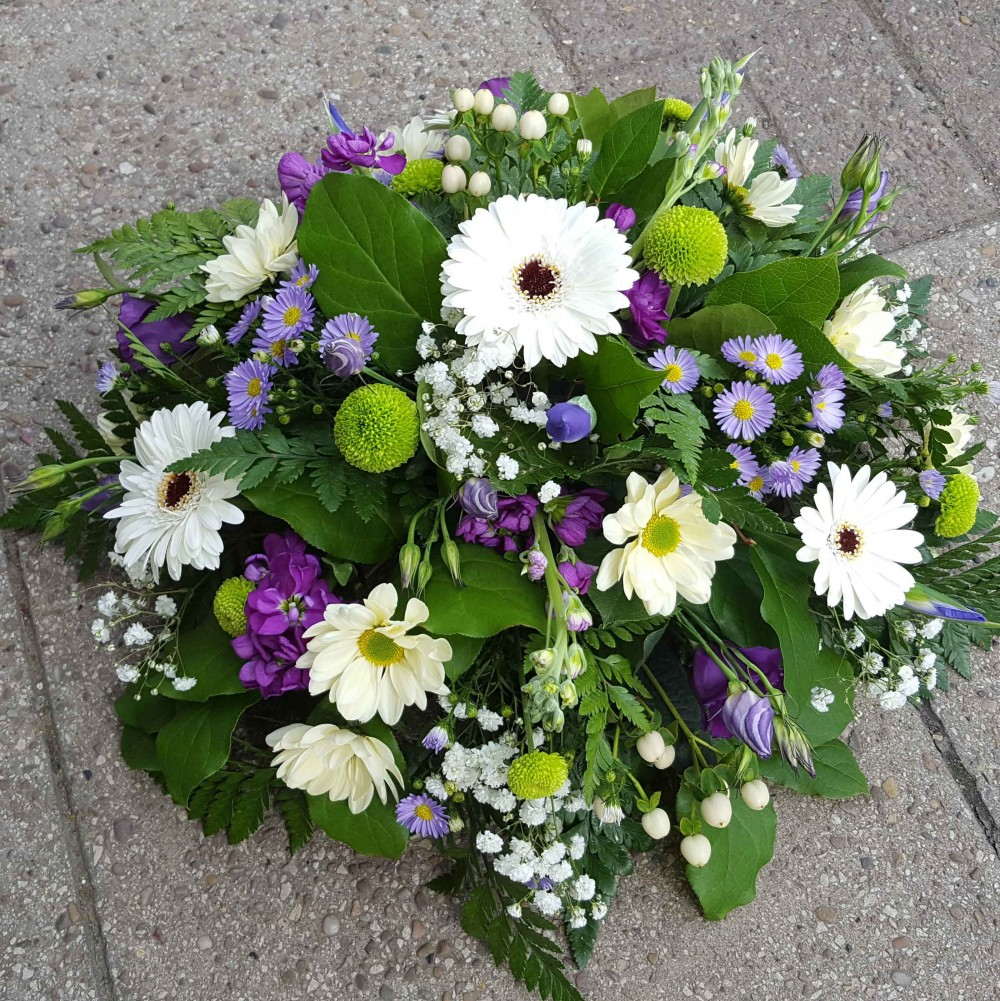 White, Purple & Green Posy