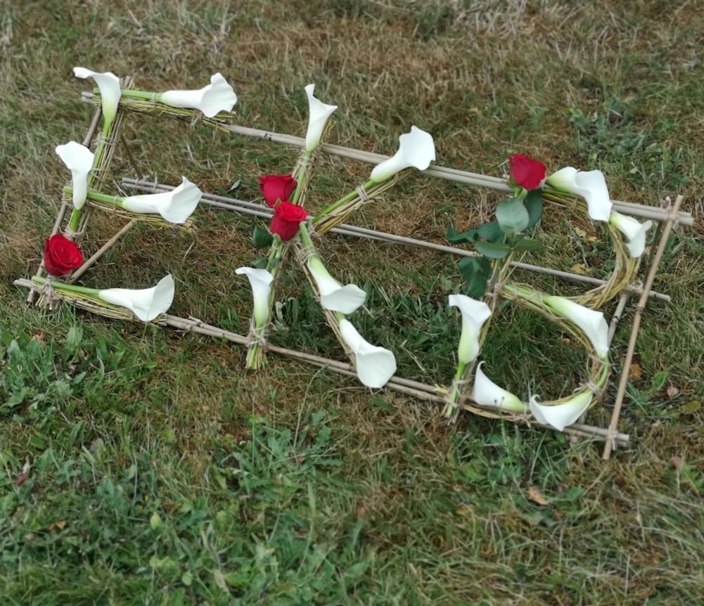 Eco Floral Letters