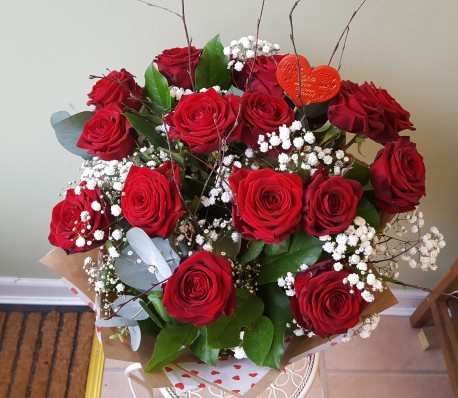 Luxury Red Roses Hand Tied