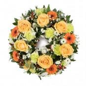 Peach & Green Wreath