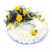 Massed Wreath Blue & Yellow