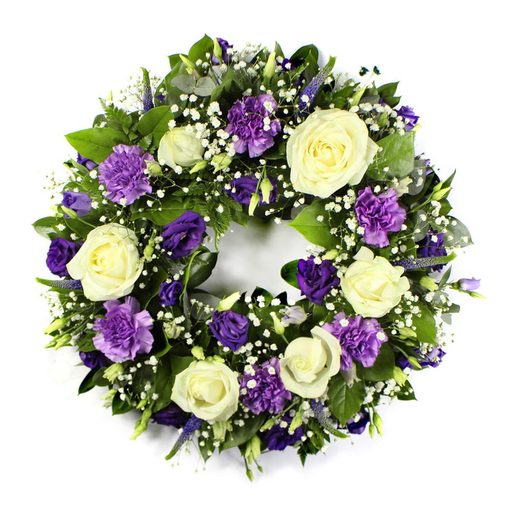 Purple & White Wreath